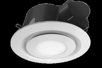 Fan - White Round LED